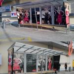 Branding autobusovej zastávky